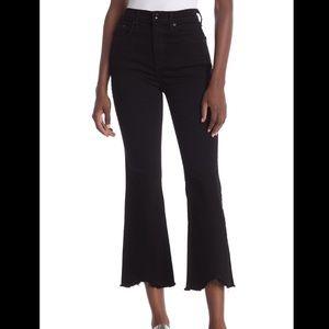 Rag & Bone Hana crop flare leg fray hem jeans